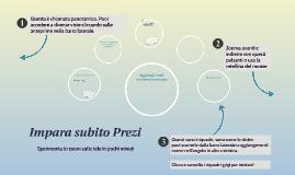 Copy of Impara subito Prezi