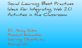 Social Learning Best Practices