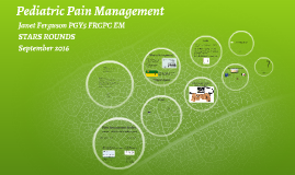 Pediatric Pain Management STARS