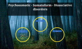 Psychosomatic - Somatoform - Dissociative disorders