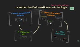 CRI 2e cycle - Parcours de la recherche d'information en criminologie