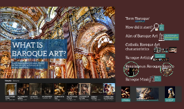 BAROQUE HISTORY OF ART