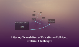 Literary Translation of Palestinian Folklore: Cultural Chall