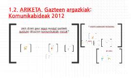 Gazteen argazkiak: Komunikabideak 2012