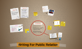 Writing For Public Relation