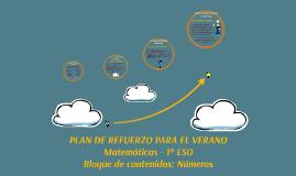 PLAN DE REFUERZO VERANO NÚMEROS