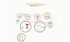 CLASES PÚBLICAS 2016