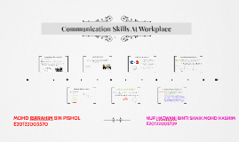 Communication Skills At Workplace