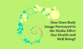 How does body image portrayed in the media affect our health and well being?