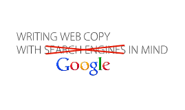 Writing Web Copy with Search Engines In Mind