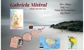 Gabriela Mistral - Poet in Translation