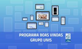 Programa Boas Vindas - Administrativo