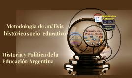 Metodología de análisis histórico socio-educativo
