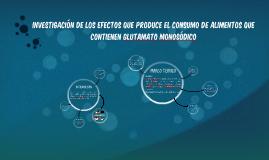 INVESTIGACIÓN DE LOS EFECTOS QUE PRODUCE EL CONSUMO DE ALIME