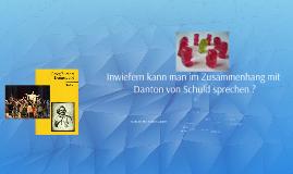 Georg Büchner_Dantons Tod: Schuld Dantons