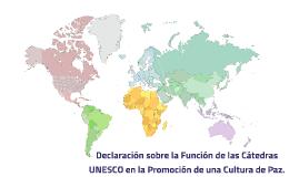 Declaración sobre la Función de las Cátedras UNESCO en la Pr