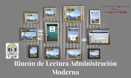 Rincón de Lectura Administración Moderna