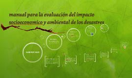manual para la evaluación del impacto socioeconomico y ambie