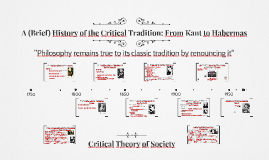 History of The Critical Tradition: From Kant to Habermas