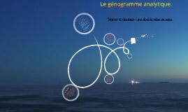 Le génogramme analytique: narrer et dessiner, une double mise en sens.