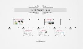 AQA Poetry: 13-15