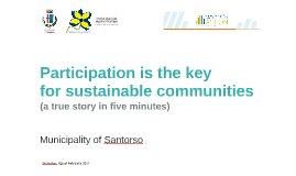Participation is key for sustainable communities