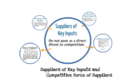 Copy of Suppliers of Key Inputs