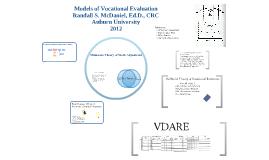 Vocational Evaluation Models