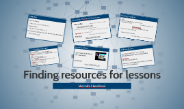 Finding resources for lessons