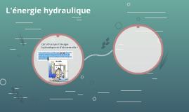 L'énergie hydraulique