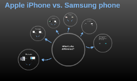 Apple iPhone vs. Samsung phone