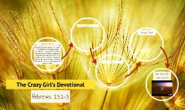 Hebrews 13:1-3