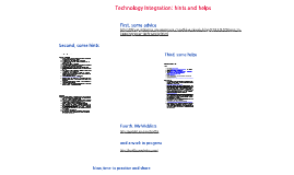Technology Integration:Hints and Helps