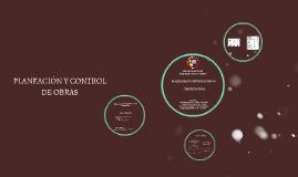 Planeacion y Control de Obras