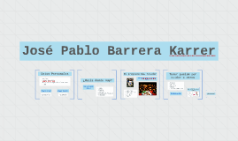 José Pablo Barrera Karrer