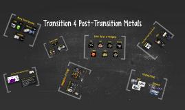 Transition & Post-Transition Metals