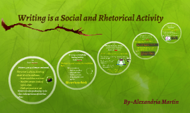 Writing is a Social and Rhetorical Activity