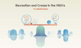 Recreation and Crazes in the 1920's