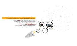 Principles of Effective World Language Programs