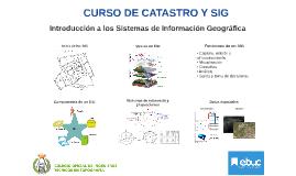 CURSO DE CATASTRO Y SIG