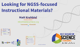 Copy of Looking for NGSS Instructional materials?