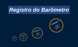 Registro do Barômetro