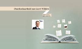 Ondschenbaarheid van Geert Wilders