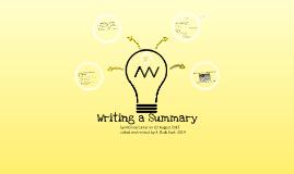Writing a Fourstep Summary