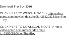 Download The Boy 2016
