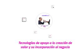TECNOLOGÍAS DE APOYO A LA CREACIÓN