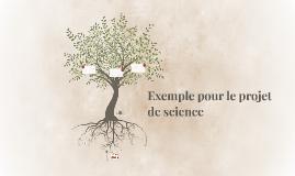 Exemple pour le projet de science