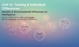 Unit 11: Testing and Individual Differences