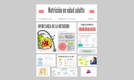 Nutrición en edad adulta
