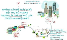 Les problèmes juridiques des manoirs abandonnées dans les grandes villes du Vietnam